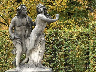 Sculptures at the Grosssedlitz Baroque Garden
