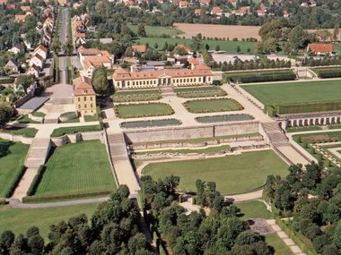 Aerial view of the Grosssedlitz Baroque Garden
