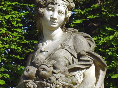 Sculpture of Pomona, the Roman Goddess of Tree Fruits